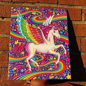 Lisa Frank Unicorn Rainbow Folder